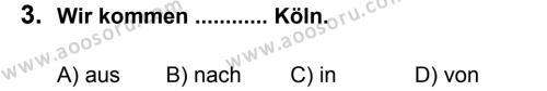 Almanca 5 Dersi 2012 - 2013 Yılı 2. Dönem Sınavı 3. Soru