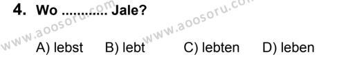 Almanca 5 Dersi 2012 - 2013 Yılı 2. Dönem Sınavı 4. Soru
