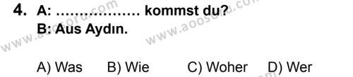Almanca 5 Dersi 2013 - 2014 Yılı 1. Dönem Sınavı 4. Soru