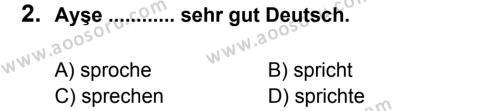 Almanca 5 Dersi 2013 - 2014 Yılı 2. Dönem Sınavı 2. Soru