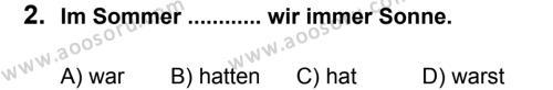 Almanca 5 Dersi 2013 - 2014 Yılı 3. Dönem Sınavı 2. Soru
