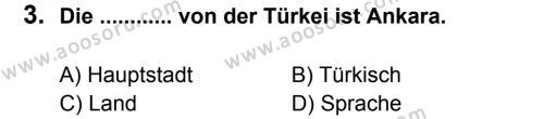 Almanca 5 Dersi 2013 - 2014 Yılı 3. Dönem Sınavı 3. Soru