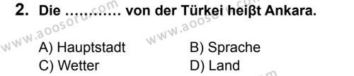Almanca 5 Dersi 2014 - 2015 Yılı 1. Dönem Sınavı 2. Soru