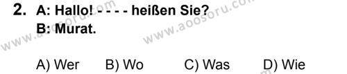 Almanca 5 Dersi 2015 - 2016 Yılı 2. Dönem Sınavı 2. Soru