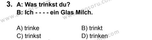 Almanca 5 Dersi 2015 - 2016 Yılı 3. Dönem Sınavı 3. Soru