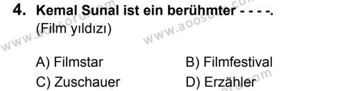 Almanca 5 Dersi 2019 - 2020 Yılı 2. Dönem Sınavı 4. Soru