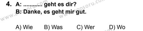 Almanca 6 Dersi 2011 - 2012 Yılı 2. Dönem Sınavı 4. Soru