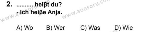 Almanca 6 Dersi 2011 - 2012 Yılı 3. Dönem Sınavı 2. Soru