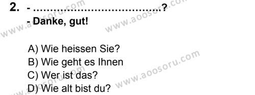 Almanca 6 Dersi 2012 - 2013 Yılı 3. Dönem Sınavı 2. Soru