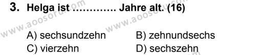 Almanca 6 Dersi 2012 - 2013 Yılı 3. Dönem Sınavı 3. Soru