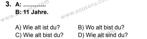 Almanca 6 Dersi 2013 - 2014 Yılı 1. Dönem Sınavı 3. Soru