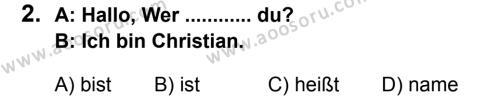 Almanca 6 Dersi 2013 - 2014 Yılı 2. Dönem Sınavı 2. Soru