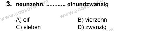 Almanca 6 Dersi 2013 - 2014 Yılı 2. Dönem Sınavı 3. Soru