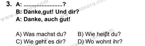 Almanca 6 Dersi 2013 - 2014 Yılı 3. Dönem Sınavı 3. Soru