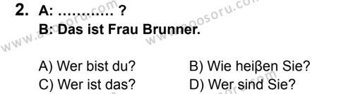 Almanca 6 Dersi 2014 - 2015 Yılı 1. Dönem Sınavı 2. Soru