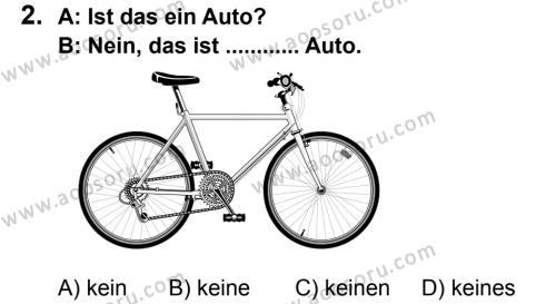 Almanca 6 Dersi 2014 - 2015 Yılı 2. Dönem Sınavı 2. Soru