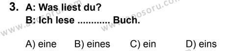 Almanca 6 Dersi 2014 - 2015 Yılı 2. Dönem Sınavı 3. Soru