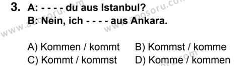 Almanca 6 Dersi 2015 - 2016 Yılı 2. Dönem Sınavı 3. Soru