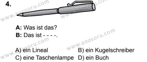 Almanca 6 Dersi 2016 - 2017 Yılı 3. Dönem Sınavı 4. Soru