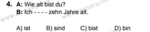 Almanca 6 Dersi 2017 - 2018 Yılı 3. Dönem Sınavı 4. Soru