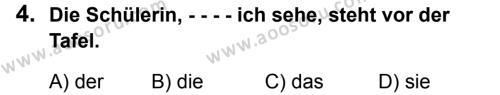 Almanca 6 Dersi 2019 - 2020 Yılı 2. Dönem Sınavı 4. Soru