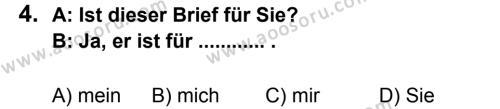Almanca 7 Dersi 2011 - 2012 Yılı 2. Dönem Sınavı 4. Soru