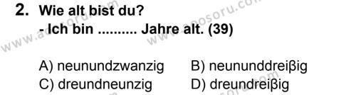Almanca 7 Dersi 2011 - 2012 Yılı 3. Dönem Sınavı 2. Soru