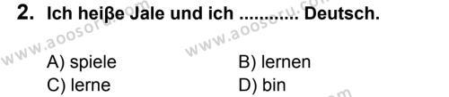 Almanca 7 Dersi 2012 - 2013 Yılı 1. Dönem Sınavı 2. Soru