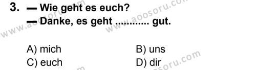 Almanca 7 Dersi 2012 - 2013 Yılı 1. Dönem Sınavı 3. Soru