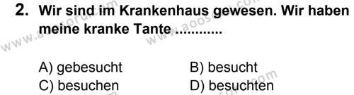 Almanca 7 Dersi 2012 - 2013 Yılı 2. Dönem Sınavı 2. Soru
