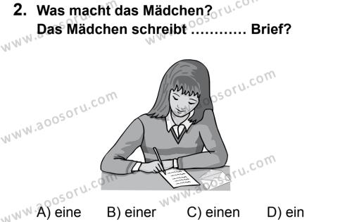 Almanca 7 Dersi 2012 - 2013 Yılı 3. Dönem Sınavı 2. Soru