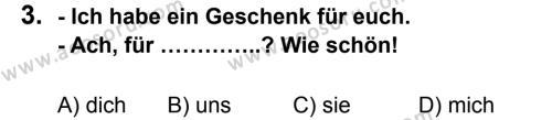 Almanca 7 Dersi 2012 - 2013 Yılı 3. Dönem Sınavı 3. Soru