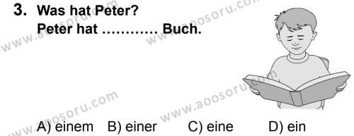 Almanca 7 Dersi 2013 - 2014 Yılı 1. Dönem Sınavı 3. Soru