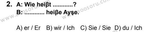 Almanca 7 Dersi 2013 - 2014 Yılı 3. Dönem Sınavı 2. Soru