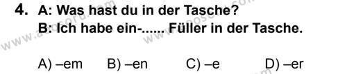 Almanca 7 Dersi 2013 - 2014 Yılı 3. Dönem Sınavı 4. Soru