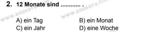 Almanca 7 Dersi 2014 - 2015 Yılı 2. Dönem Sınavı 2. Soru