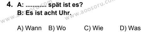 Almanca 7 Dersi 2014 - 2015 Yılı 2. Dönem Sınavı 4. Soru