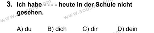 Almanca 7 Dersi 2015 - 2016 Yılı 2. Dönem Sınavı 3. Soru