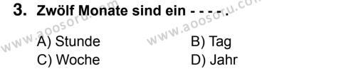 Almanca 7 Dersi 2016 - 2017 Yılı 2. Dönem Sınavı 3. Soru