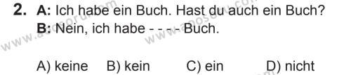 Almanca 7 Dersi 2017 - 2018 Yılı 2. Dönem Sınavı 2. Soru