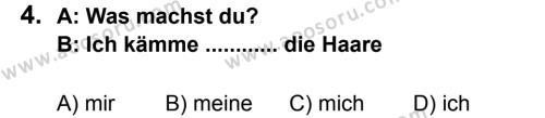 Almanca 8 Dersi 2011 - 2012 Yılı 2. Dönem Sınavı 4. Soru
