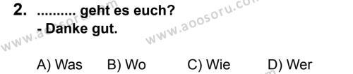 Almanca 8 Dersi 2011 - 2012 Yılı 3. Dönem Sınavı 2. Soru