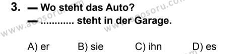 Almanca 8 Dersi 2012 - 2013 Yılı 1. Dönem Sınavı 3. Soru