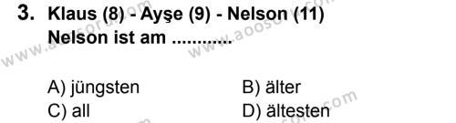 Almanca 8 Dersi 2012 - 2013 Yılı 2. Dönem Sınavı 3. Soru