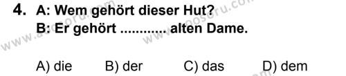 Almanca 8 Dersi 2012 - 2013 Yılı 2. Dönem Sınavı 4. Soru