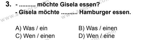 Almanca 8 Dersi 2012 - 2013 Yılı 3. Dönem Sınavı 3. Soru