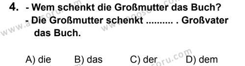 Almanca 8 Dersi 2012 - 2013 Yılı 3. Dönem Sınavı 4. Soru
