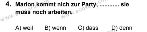 Almanca 8 Dersi 2013 - 2014 Yılı 1. Dönem Sınavı 4. Soru