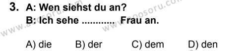 Almanca 8 Dersi 2013 - 2014 Yılı 2. Dönem Sınavı 3. Soru