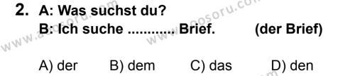 Almanca 8 Dersi 2013 - 2014 Yılı 3. Dönem Sınavı 2. Soru